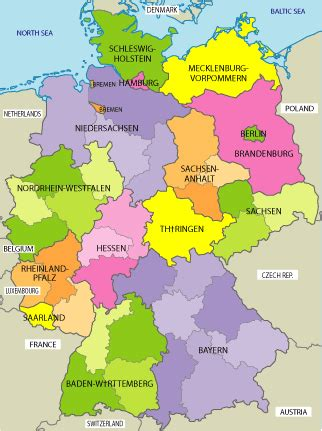 germany map political maps of germany political physical and road maps of