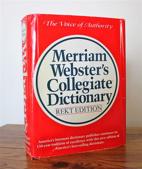 The Merriam Webster Dictionary who knew the dictionary could be savage as hell what s trending