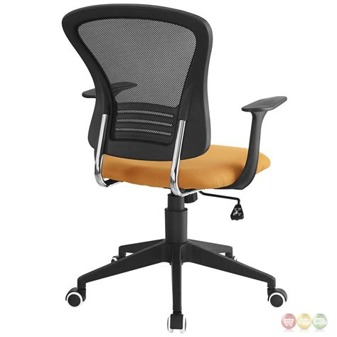 Office Chairs With Lumbar Support Poise Modern Ergonomic Mesh Back Office Chair With Lumbar