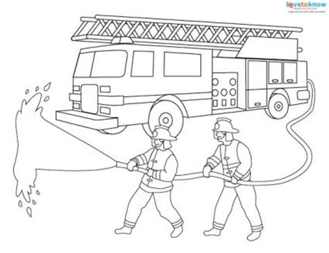 coloring pages of house on fire fire truck coloring pages firefighter coloring pages