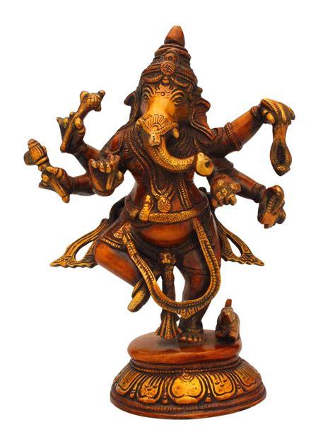brass ganesha lucky charm hindu god elephant lord