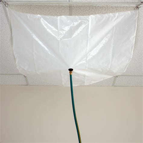 ceiling leak diverter 7 x 7 drain tarp roof ceiling leak diverter tarp