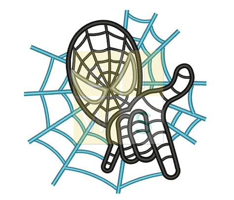 spiderman embroidery pattern spider man and hand applique design for embroidery machines