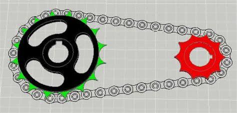 catarinas y cadenas normas catalina y cadena de bicilceta 3d en autocad descargar