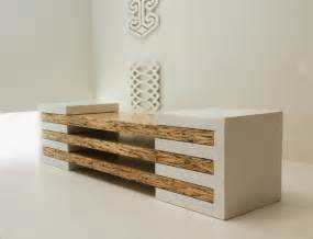 How To Design Furniture by Contemporary Bench In Concrete And Wood Combination