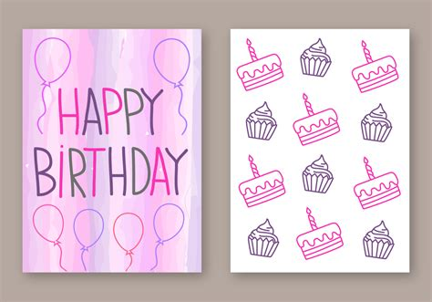 happy everything card template free happy birthday card vector free vector