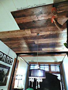 diy faux rustic plank ceiling   quaint cottage