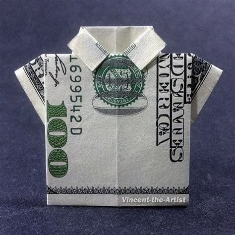 Dollar Bill Shirt Origami - dress shirt money origami clothes dollar bill