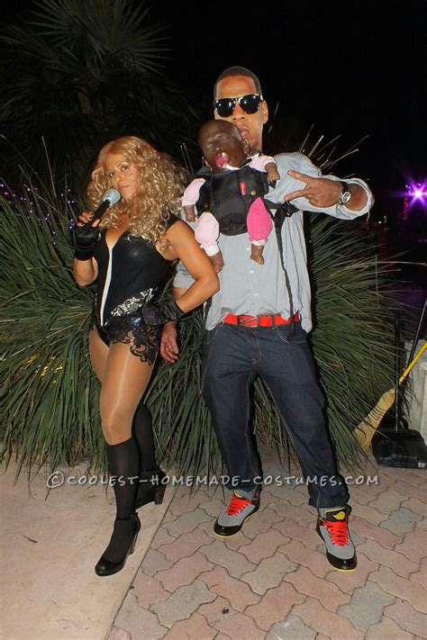 funny illusion couple costume jay  beyonce  blue ivy