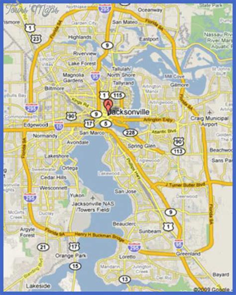 jacksonville map jacksonville map toursmaps