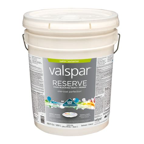 shop valspar reserve satin exterior paint actual net contents 630 fl oz at lowes