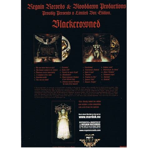 Cd Black Metal Bvrtan Boxset blackcrowned limited edition 2cd vhs booklet by marduk cd box with capricordes ref