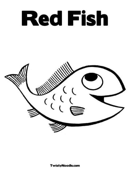 one fish two fish red fish blue fish coloring pages part 1