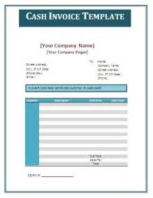 Cash Invoice Template Cash Invoice Template Formsword Word Templates Amp Sample
