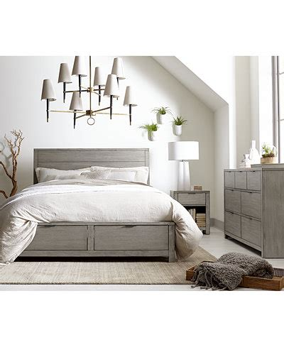 tribeca bedroom furniture tribeca grey storage platform bedroom furniture collection created for macy s