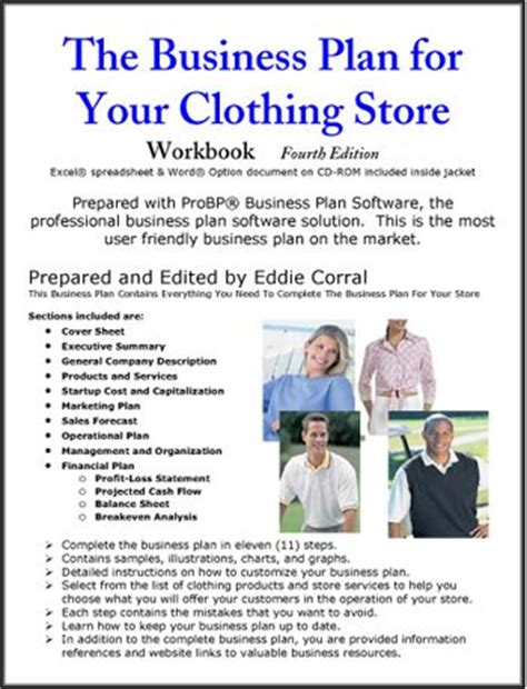clothing store business plan template free clothing store business plan business inspiration