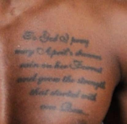 tattoo lyrics on chest trey songz chest tattoo