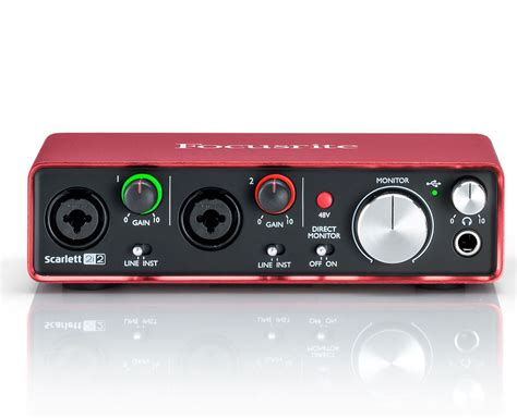 Focusrite 2i2 2nd Audio Interface focusrite 2i2 2nd generation usb 2 in 2 out usb recording interface