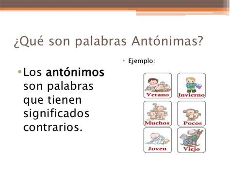 significado de antonimos y ejemplos de antonimos postea mejor palabras ant 243 nimas