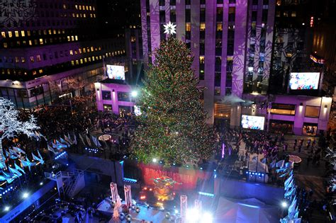 2014 new york christmas tree lighting part 50 rockefeller