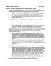 Mba Decision Study by Mba540 Module 6 Chpt 13 Study Mba 540 Module 6
