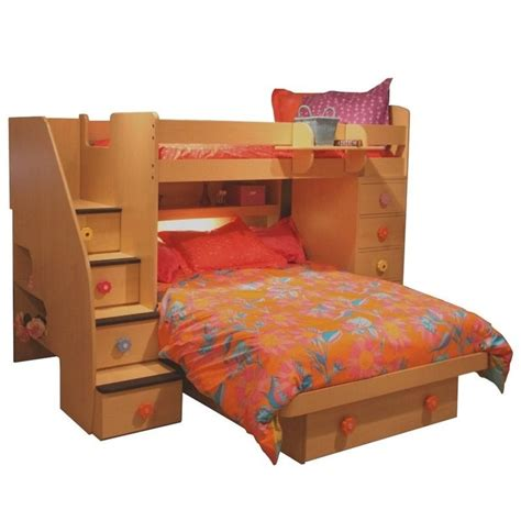 space saver beds berg furniture sierra space saver twin over full loft bed