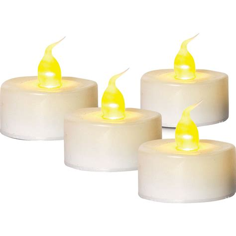 tea light candles battery operated 4 pack white battery operated tea light candle battery