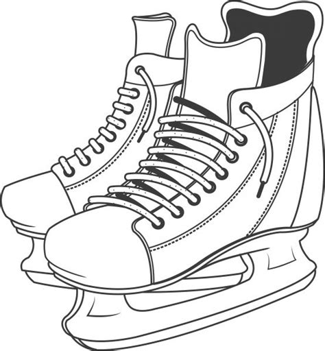 hockey skates coloring pages pictures of hockey skates