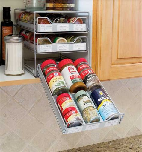 Spice Rack Spices Included Spice Drawer Organizer In Spice Racks