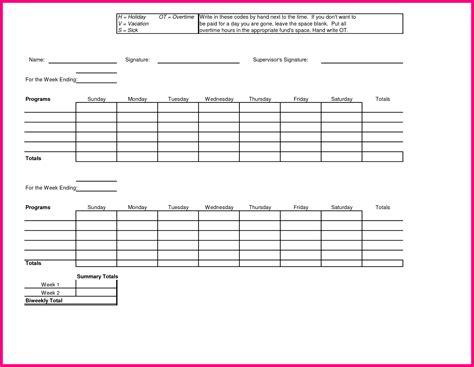 bi weekly time card template bi weekly timesheet template bi weekly time card template