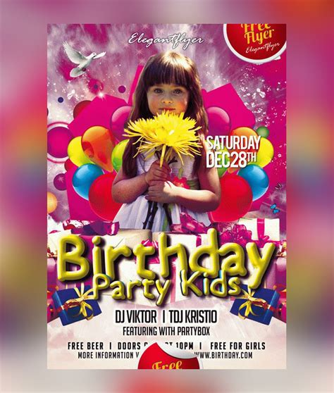 30 kids party flyer psd templates free premium designyep