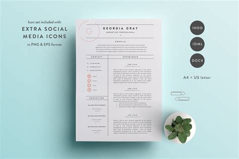 3 Page Resume Template by 50 Best Cv Resume Templates Of 2018 Design Shack