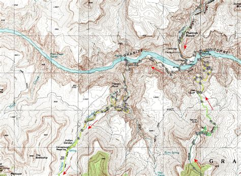 grand map south kaibab trail south kaibab bright trail grand