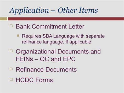Loan Commitment Letter Before Appraisal obtaining sba loan approval