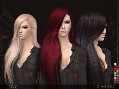 long hairstyles for men sims 4 my sims 4 blog stealthic valo hair for females