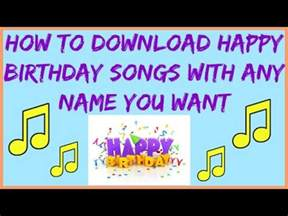 how to download happy birthday song with any name youtube