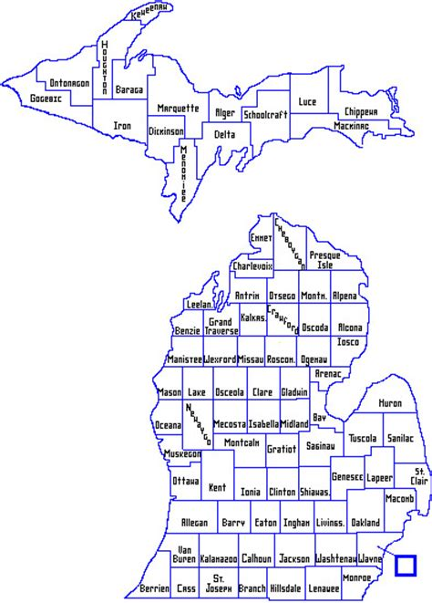 Of State Office Warren Mi by Mdhhs Local Health Department Map