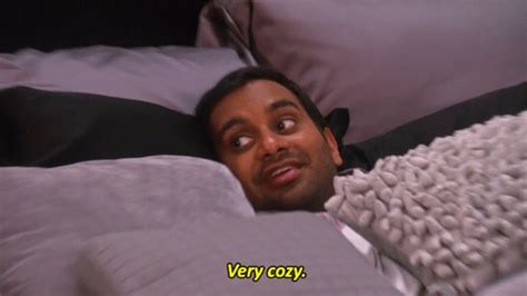 comfort sucking cozy aziz ansari gif find share on giphy