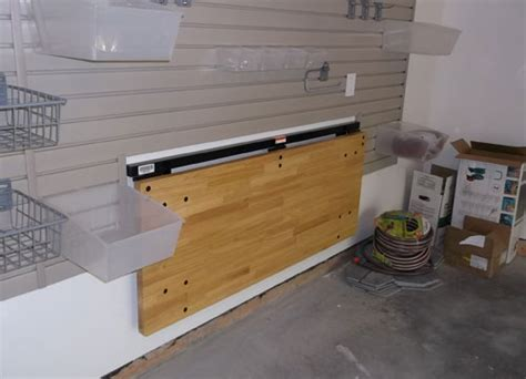 bench solution folding workbench garage storage