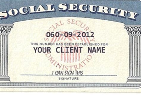 social security template social security card template