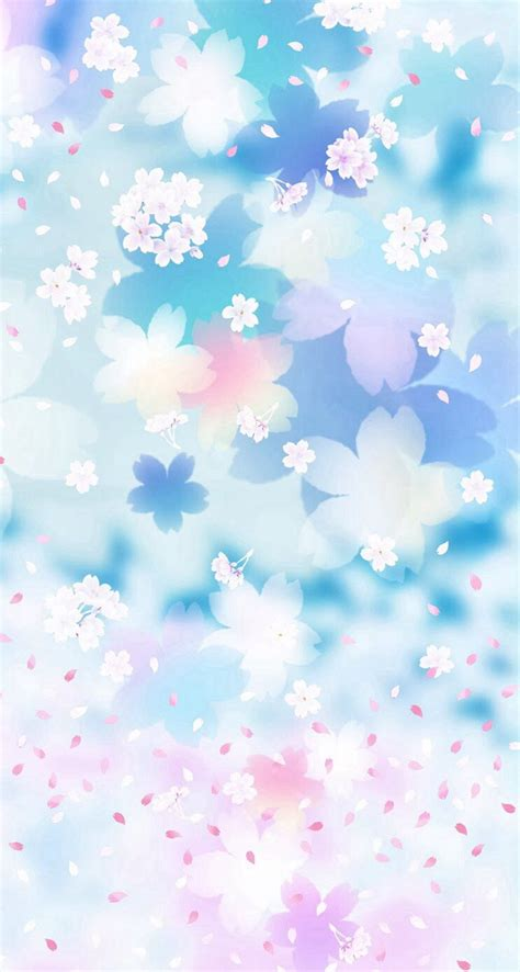 blue flowers iphone wallpaper sky flower backgrounds