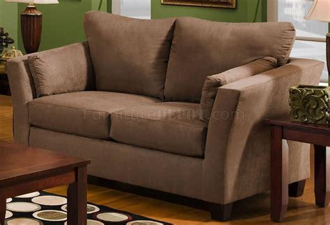 Brown Microfiber Modern Sofa Loveseat Set W Optional