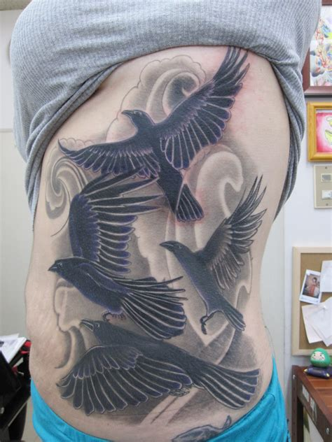 crow tattoo designs the images crows wallpaper photos 16804858