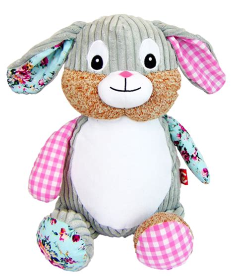 cubbies harlequin pink bunny cubby stuffie