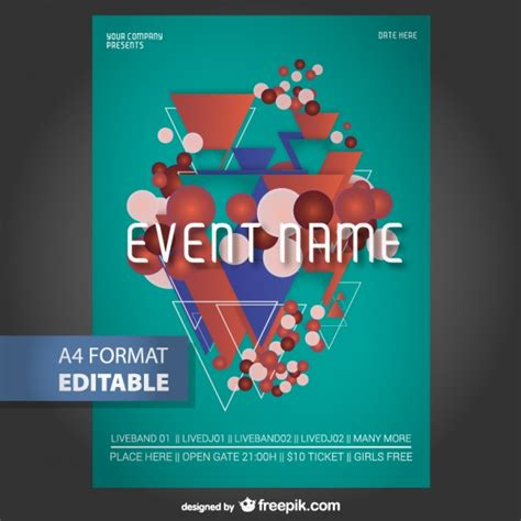 editable poster templates geometric editable poster template vector free