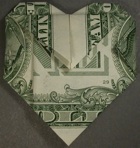 Shaped Dollar Bill Origami - dollar bill origami quarter images