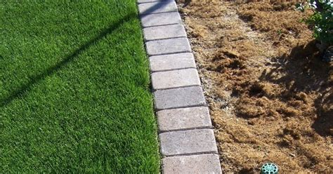 Landscape Edging Mow The 2 Minute Gardener Photo Paver Mow