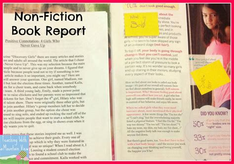 History Fiction Book Report by Nonfiction Book Report 4th Grade 1000 Ideas About Book