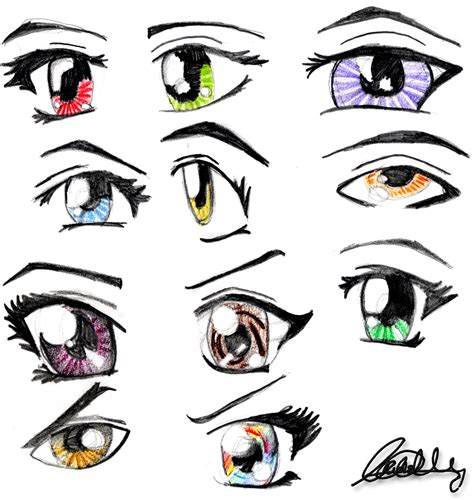 anime eyes anime eyes by cattyonines on deviantart