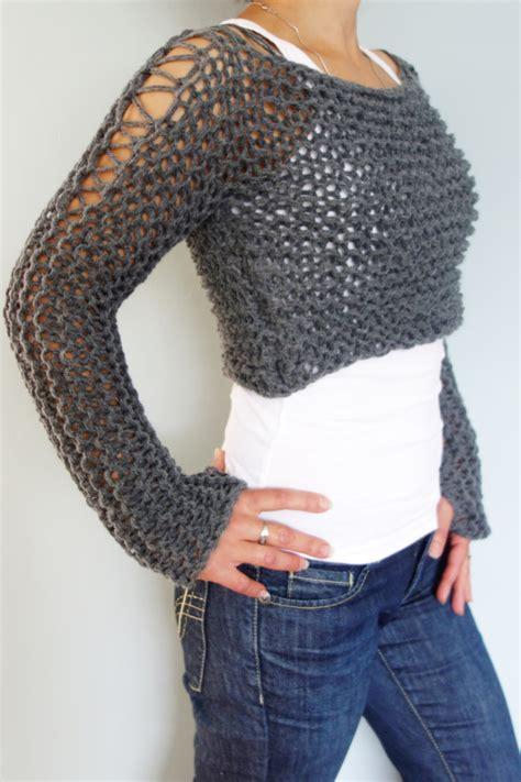 knit pattern cropped sweater cropped sweater knitting pattern andra cropped thumb hole